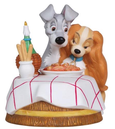 ★ New Precious Moments Disney Figurine Lady Tramp Spaghetti Dog Love Puppy   eBay