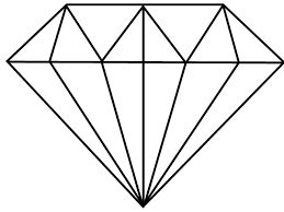 simple diamond drawing - Google Search