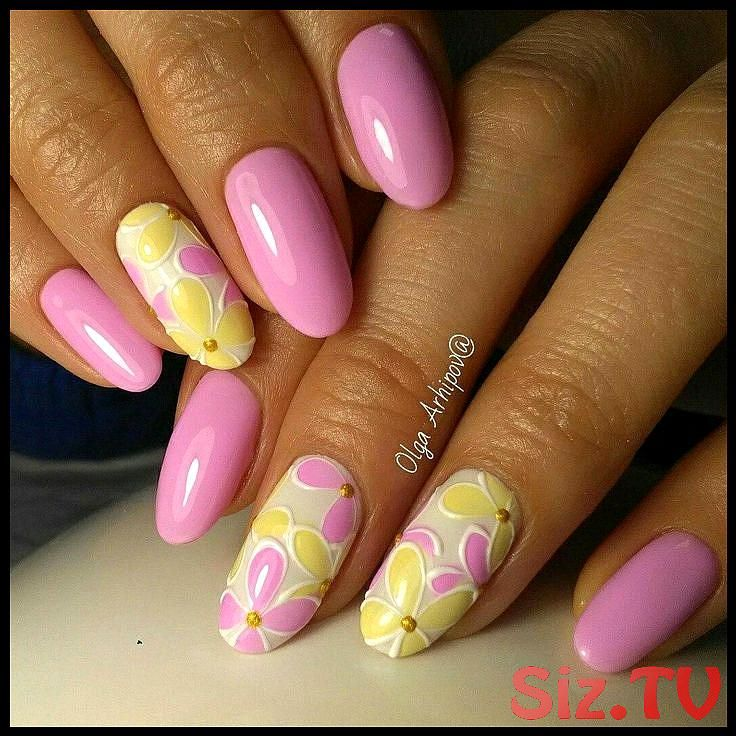 Nail Art 4134 Nail Art 4134 Mandelförmige Nägel Marine Nägel Nagelideen 2018 Na …