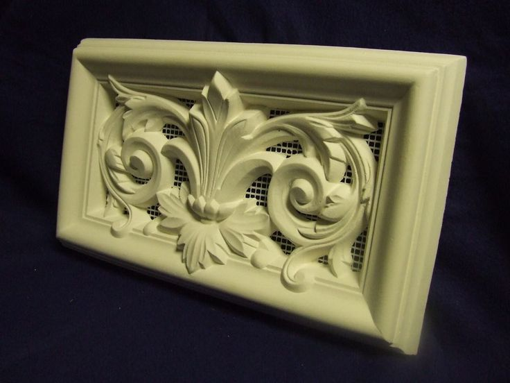 """The Toucans"" 2 x Victoriana Style Ornate Plaster Air Vent Covers with integral mesh to stop insect ingress. Note: You can use silicone to fix the vent cover to the wall if there are no damp conditions, making sure you get good adhesion to wall and vent. 