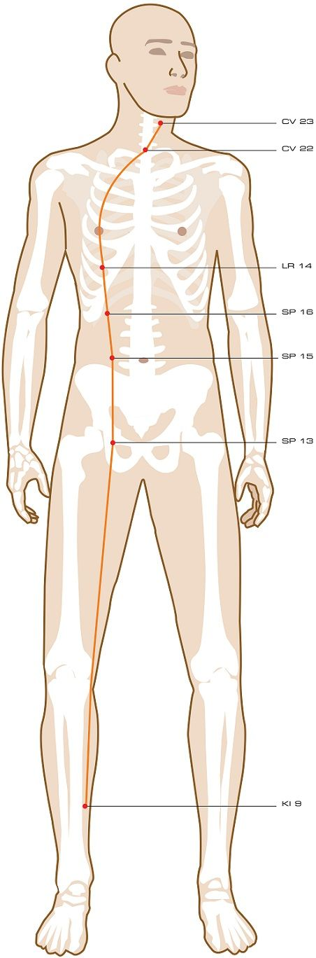 Yin Linking Vessel Acupuncture Points