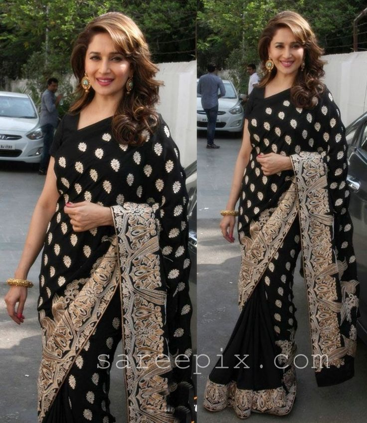 New Black Designer Saree