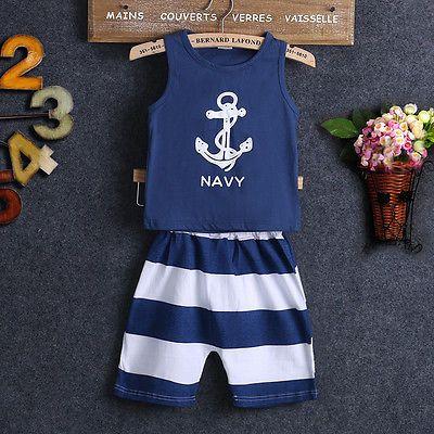 Baby Boy Navy Tank Top & Shorts