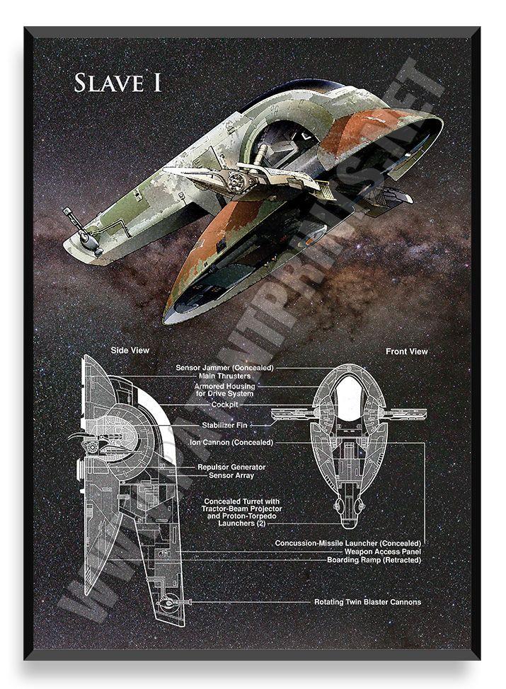 Slave I, Star Wars Poster