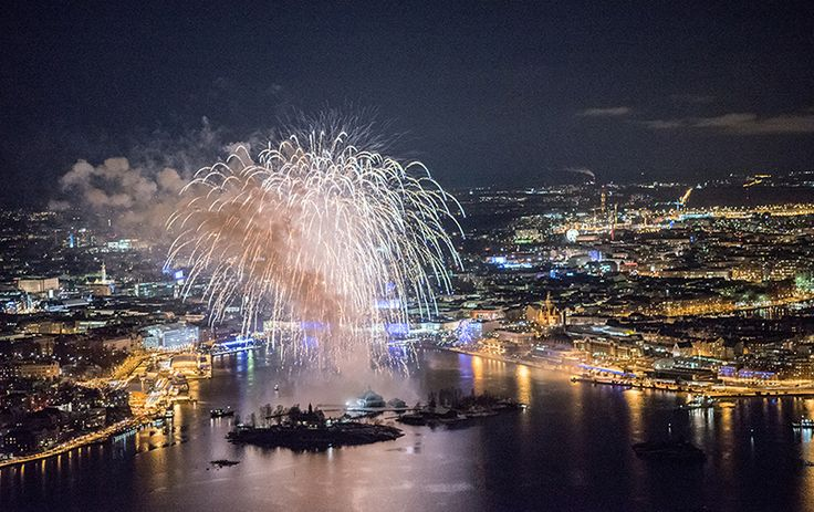Spectacular display of fireworks climax the Finland 100 centenary - Suomi 100