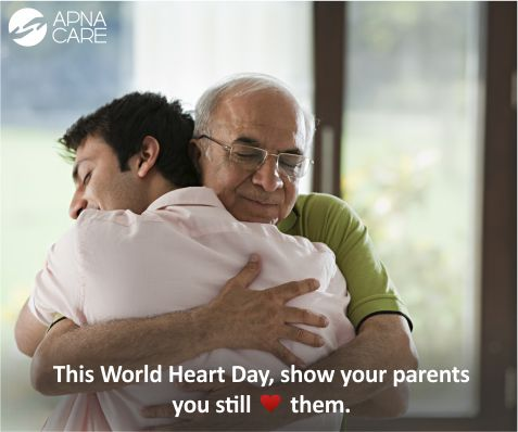This #WorldHeartDay, show your parents you still <3 them.  Cardio Vascular Disease is a serious threat to your parents. Help them avoid this complication or manage the disease by following seven important guidelines. Read more http://apnacare.in/world-heart-day  If you need help finding trained professionals to care for your loved ones, call ApnaCare at +91 (080) 30752584 now.  #ApnaCare #healthcare #homehealthcare #homenursing #eathealthystayhealthy #eldercare #seniors #edlers #heart…