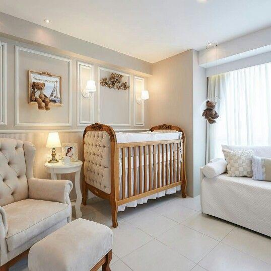 Quarto de bebê clássico. Projeto: LM Arquitetura