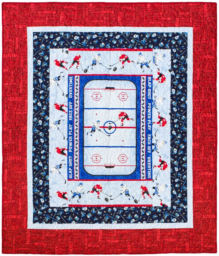 Made to order Hockey Quilt Deposit | Quilts & Sew Forth