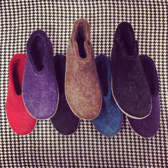 #Glerups are here! #bestpartofwinter #winter #slippers #wool #Toronto #Trove