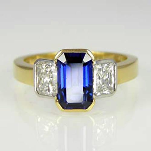 Stone Sapphire Diamond Ring