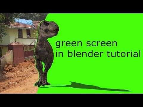 Blender Tutorial Greenscreen with motion tracking - YouTube