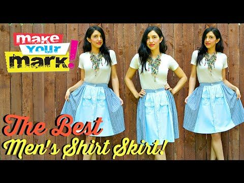 How to:  The BEST Men's Shirt Skirt DIY (with real waistband)