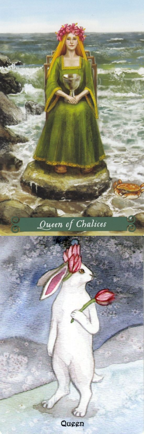 Queen of Cups: comforting and over-reliance on her kindness (reverse). Green Witch Tarot deck and Rabbit Tarot deck: horoscope tarot cards, tarot card reading love in hindi and tarot. Best 2018 pagani huayra and tarot altar. #pumpkin #tarotmeanings #ilovemywitchyways #magick #tower