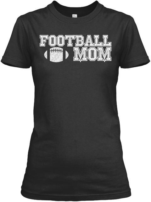 Limited Edition Football Mom Shirt Black Women's T-Shirt Front