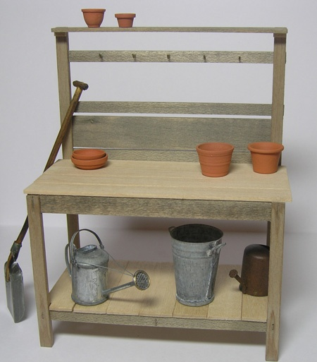 86 best miniature potting table images on pinterest for Mini potting shed