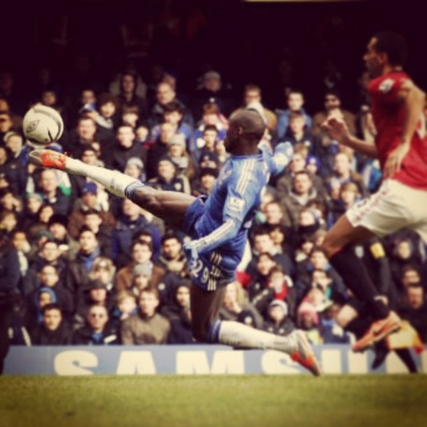 Demba Bas winning goal against Manchester United... #CFC - @Chelsea Rose FC- #webstagram