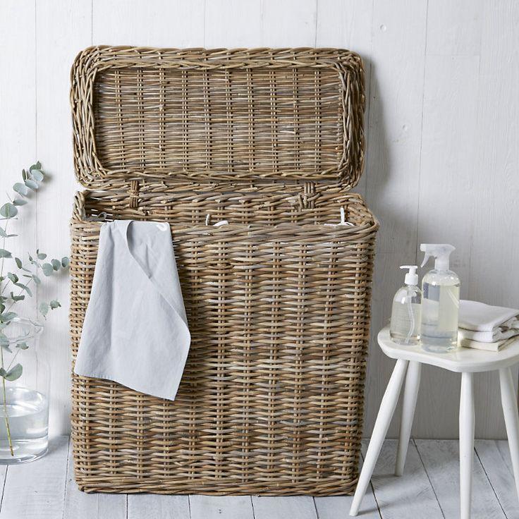 The White Company Double laundry basket
