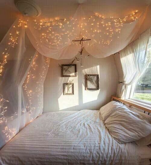 Bed veil with lights