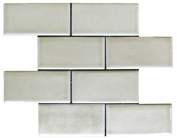 Chateau Series Brick 3 X 6 Cappuccino Crackle Mosaic Tiles Handcrafted Subway Tile Tiles