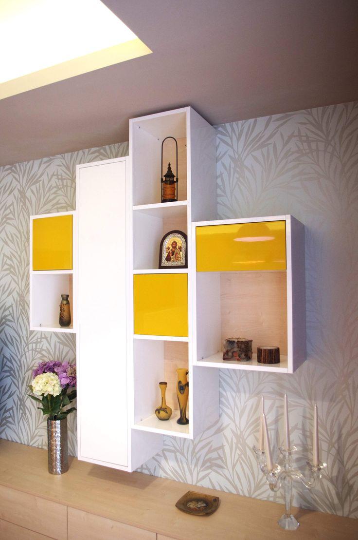 Warm coloured living furniture