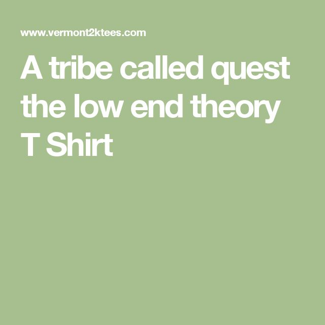 A tribe called quest the low end theory T Shirt