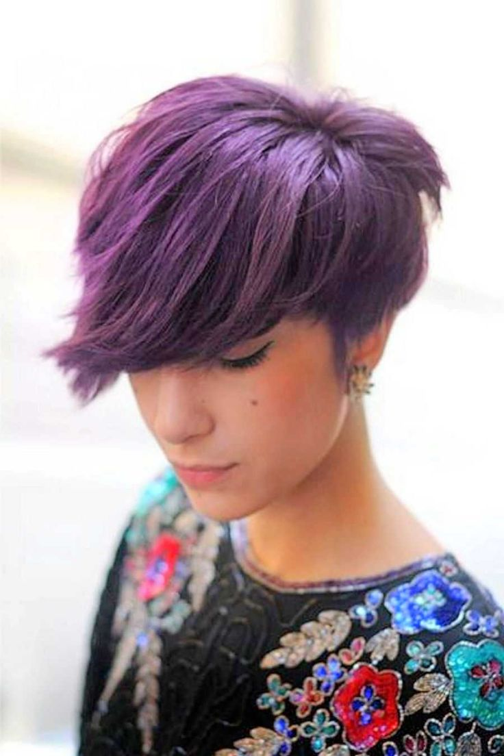 Purple pixie cut