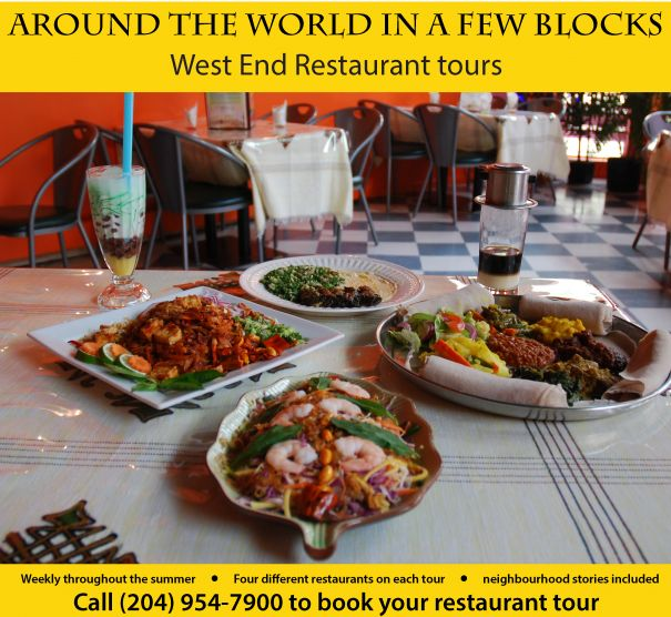 Known as the most ethnically-diverse neighbourhood in the city, a bevy of international delights awaits during this food tour.  Win your Winnipeg adventure including flight, hotel and an adventure YOU choose! Visit http://www.tourismwinnipeg.com/pin-and-winnipeg to enter!