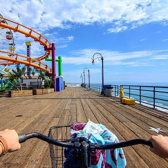 Pacific On One Side, Roller Coasters On The Other- Santa Monica Pier, Los Angeles  www.theroadlestraveled.com