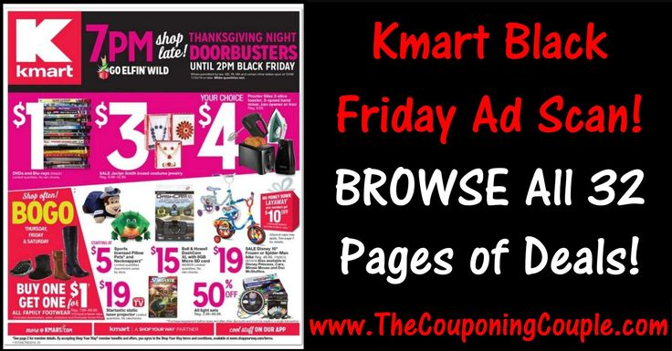 ****KMART BLACK FRIDAY 2016 AD SCAN**** Another NEW Black Friday Ad Scan for you to Check Out! Click the Picture below to BROWSE all 32 Pages of the Ad ► http://www.thecouponingcouple.com/kmart-black-friday-2016-ad/  Use the SHARE button below the Picture to SHARE this Deal with your Family and Friends!  #Coupons #Couponing #CouponCommunity #BlackFriday #BlackFriday2016 #BlackFridayAd  Visit us at http://www.thecouponingcouple.com for more great posts!