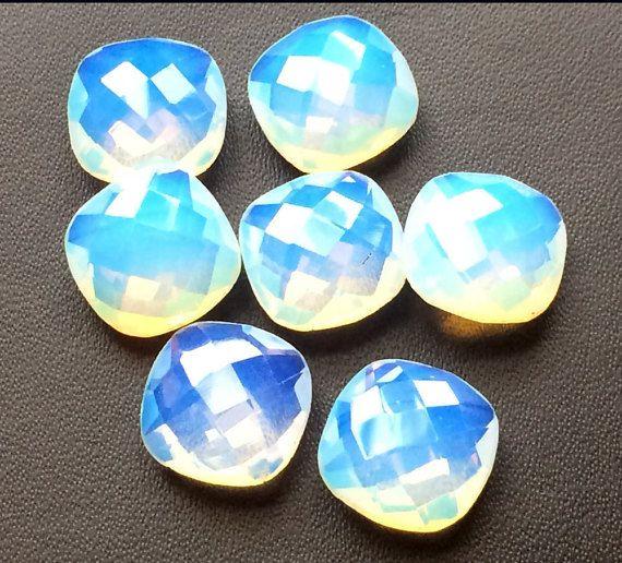 7 Pcs Fire Opalite Stones Opalite Cushion Cut by gemsforjewels