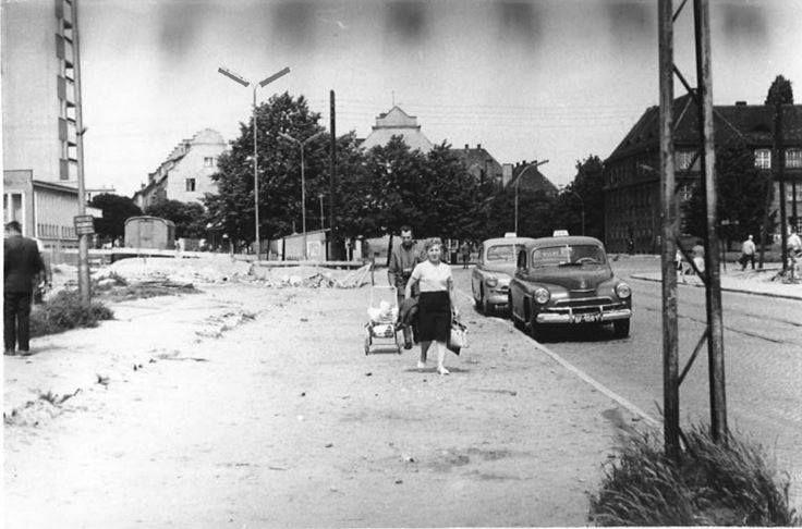 Wrzeszcz,plac Ks. Komorowskiego,lata 60-te XX wieku.