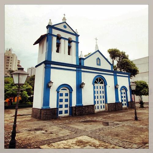 Santa Filomena's Chapel at Marechal Deodoro Street, City of Sao Bernardo do Campo  Brazil