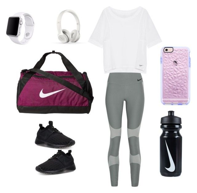 """""""Morning workout"""" by izzyvb on Polyvore featuring NIKE, Apple and Beats by Dr. Dre"""