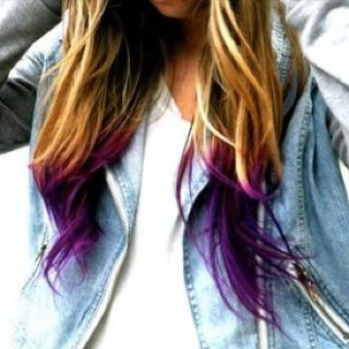 @Elise Miller I kind of really want to do a purple dip dye!