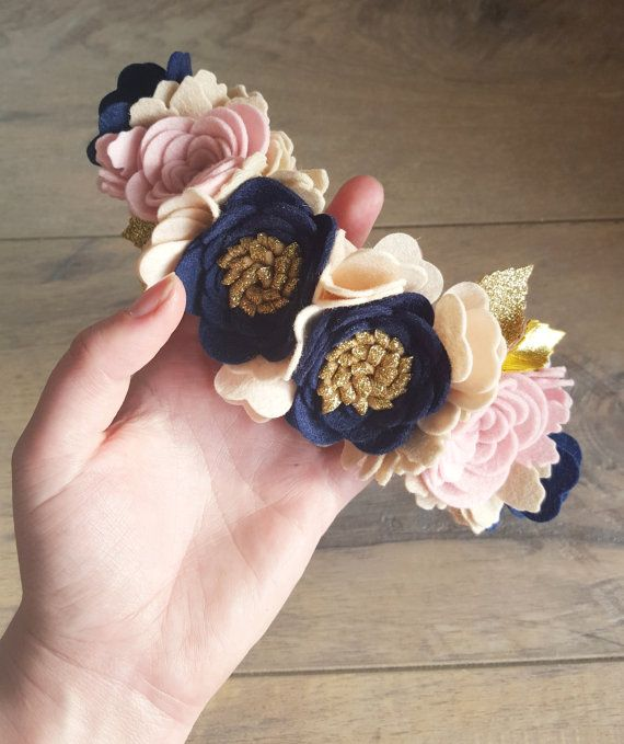 EMMA  LUXE Floral Crown / felt flower crown / by shopfeltinbloom