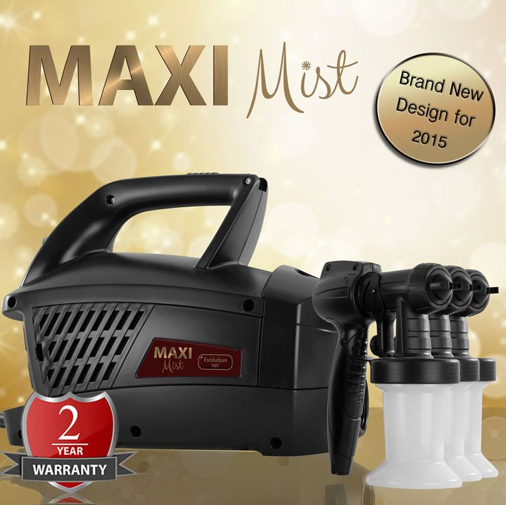 Maximist Evolution TNT - Designed for mobile / salon use.  Powerful 570 watt 2 Stage Turbine motor - rated for 25+ spray tans per day. Includes 3 x 'Twist n Tan' Spray Heads with 6.75oz/200ml Cups and unique 'Blow Dry' feature. Also Includes FREE Suntana solutions (5 x 250ml)  - £179.99 (Including VAT) - OMG! http://www.suntana.com/product/maximist-evolution-tnt/