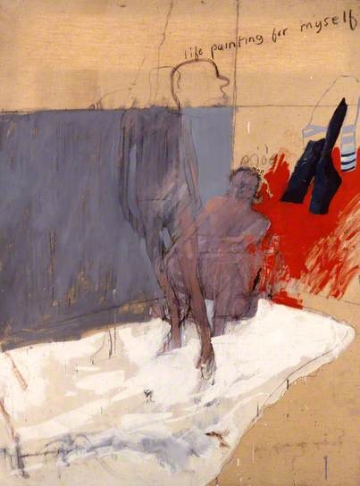 Life Painting for Myself by David Hockney Date painted: 1962 Oil on canvas, 121.9 x 91.4 cm Collection: Ferens Art Gallery