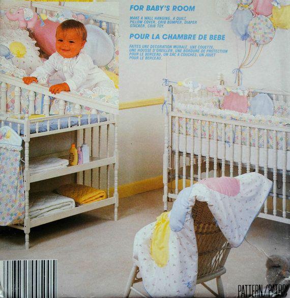 Uncut Vintage 1980s Baby Nursery Room Sewing By