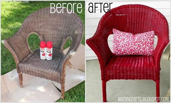 Paint Wicker Furniture Craft Ideas Pinterest