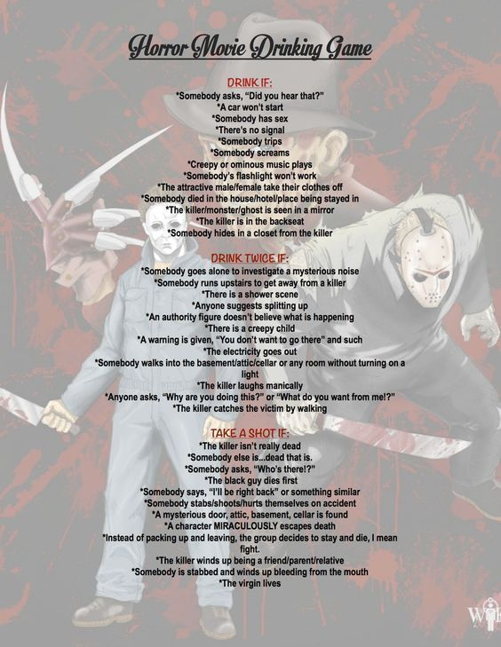 Horror Movie Drinking Game fun scary movies halloween horror movies halloween pa…
