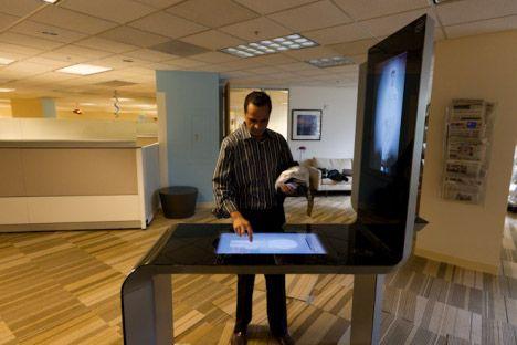 Intel Touchscreen Kiosk Looks Futuristic