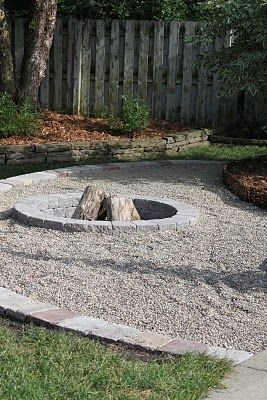 home depot diy fire pit pavers and gravel ... This would fit in with what we already have