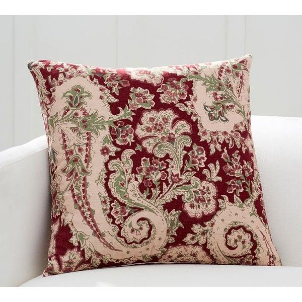 Throw Pillow Pottery Barn : Pottery Barn Dasha Paisley Pillow Cover ($46) liked on Polyvore featuring home, home decor ...
