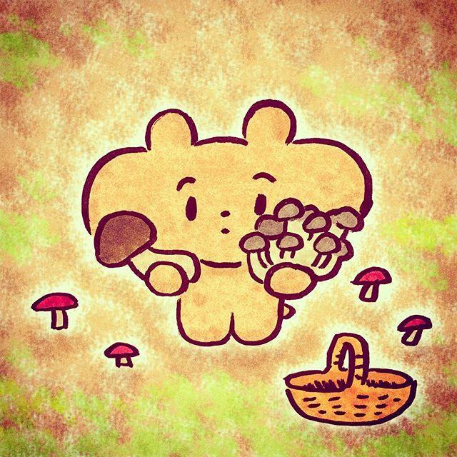 【otafukuma】さんのInstagramをピンしています。 《かおり まつたけ あじ しめじ 🍄 - #おたふくま #ぽくぽく #pictoplasma #instagood #drawing #illustration #illustrator #bear #cute #くま #character #popart #森 #forest #ぐんまの森 #popart #art #graphic #graphicdesign #graphicdesigner #popart #kinoko #きのこ #松茸 #しめじ #mushroom #きのこ狩り》