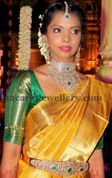 Jewellery Designs: Indian Diamond Wedding Jewellery