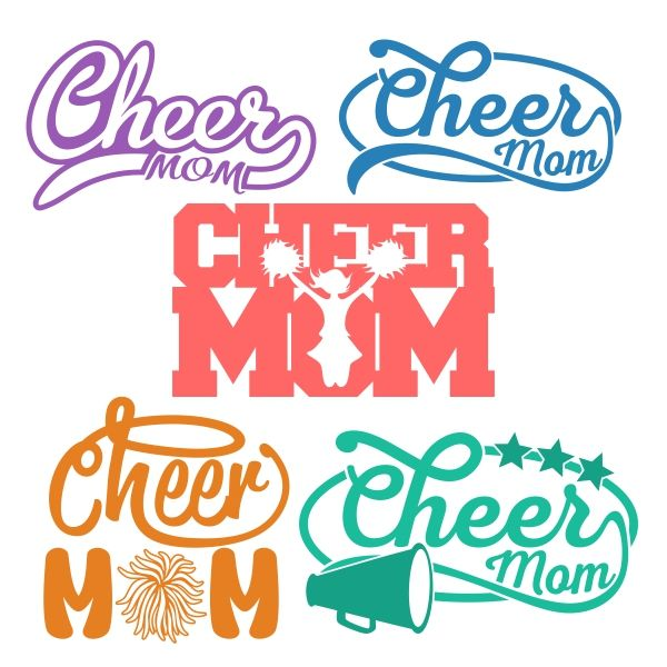 Cheer Mom Cuttable Design Cut File. Vector, Clipart, Digital Scrapbooking Download, Available in JPEG, PDF, EPS, DXF and SVG. Works with Cricut, Design Space, Cuts A Lot, Make the Cut!, Inkscape, CorelDraw, Adobe Illustrator, Silhouette Cameo, Brother ScanNCut and other software.