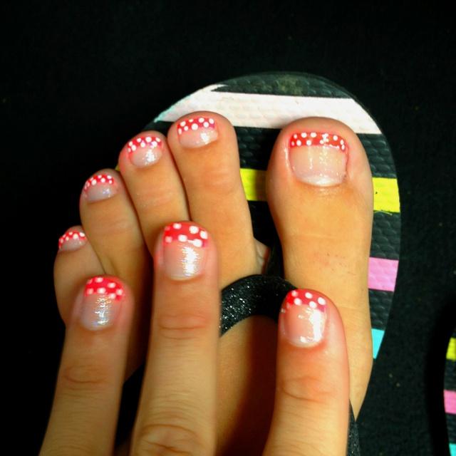 Mani-pedi polka dots!!!