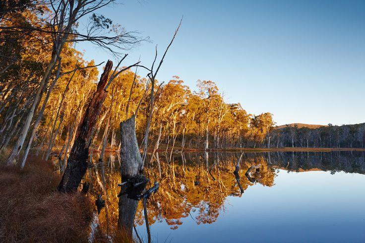 Sunset over Lake Cobbler in the Alpine National Park - King Valley, Victoria, Australia.