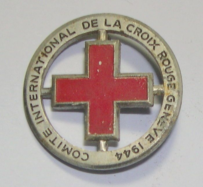 Comite International De La Croix Rouge Geneve 1944 Genuine Vintage Rare Pinback