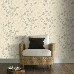 Vinyl behang 10,05m x 52cm p19652 texture nature cream